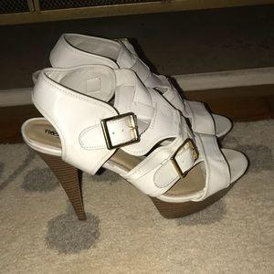 White Mossimo High Heels! EUC!